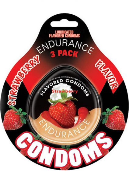 Strawberry Endurance Condom 3pk