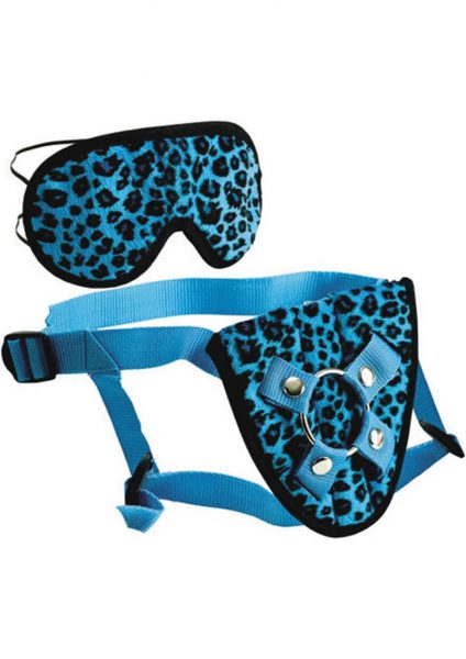 Furplay Harness and Mask – Blue Leopard