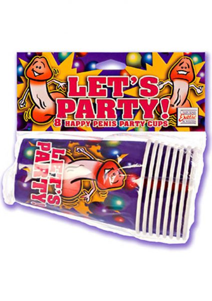 Happy Penis Party Cups 8 Pack