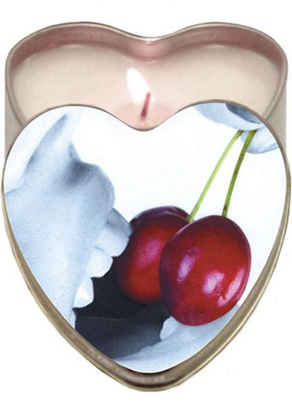 Edible Heart Candle Cherry