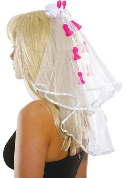 Bachelorette Pecker Clip Veil