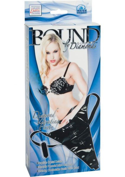 Bound By Diamonds Diamond Vibrating Panty Black