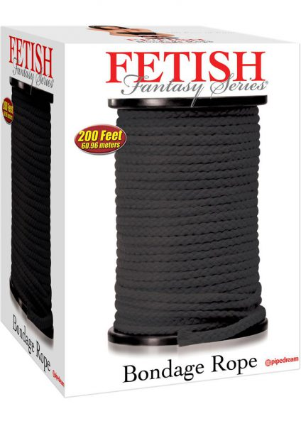 Fetish Fantasy Bondage Rope Black 200 feet