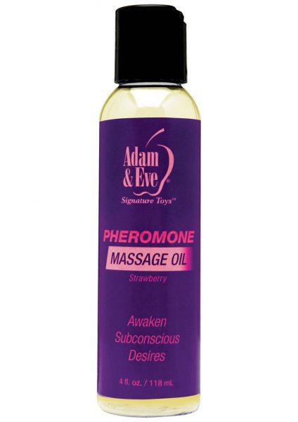 Pheromone Massage Oil Strawberry 4oz