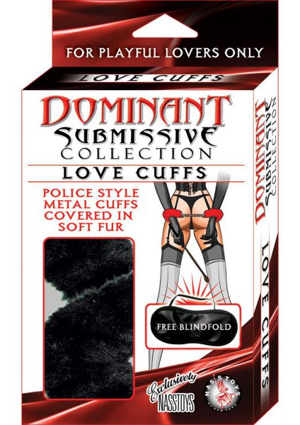 Dominant Submissive Love Cuffs Black