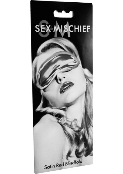 Sex Mischief Satin Blindfold- Red