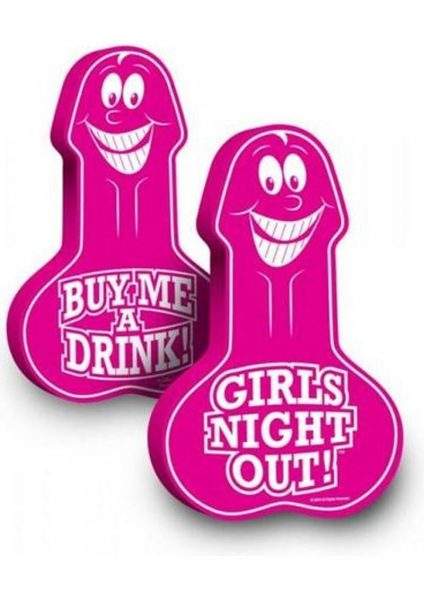 Girls Night Out Penis Foam Hand 18.5 Inch Pink