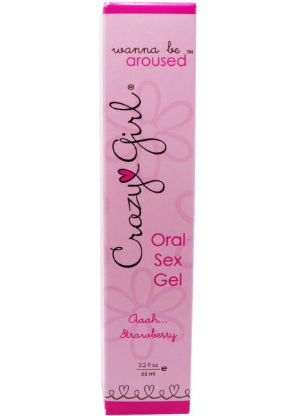 Crazy Girl Wanna Be Aroused Oral Sex Gel Aaah Strawberry 2.2 Ounce