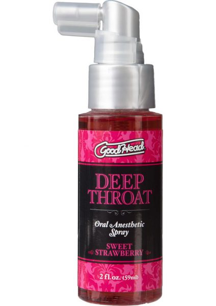 Goodhead Deep Throat Oral Anesthetic Spray Sweet Strawberry 2 Ounce