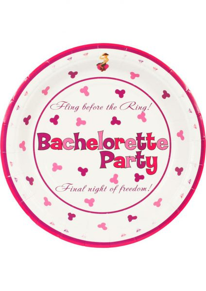 Bachelorette Party 7 Inch Plate 10 Pack