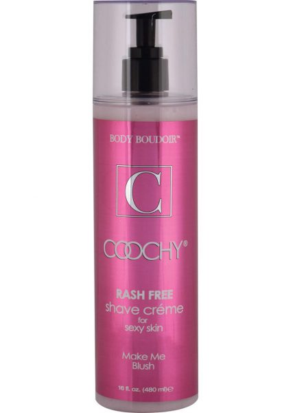 Body Boudoir Coochy Rash Free Shave Creme Make Me Blush 16 Ounce