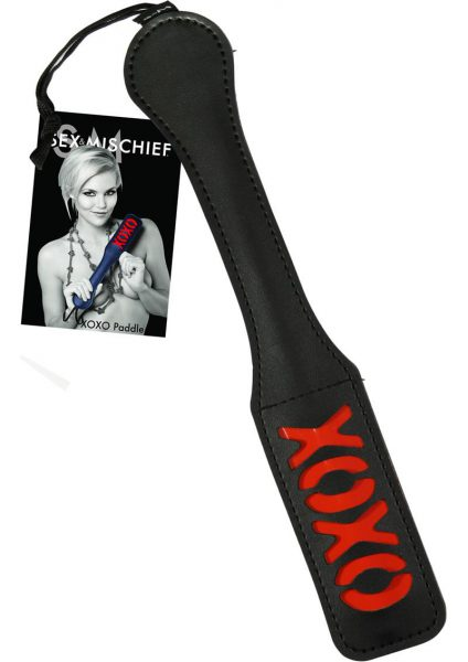 Sex And Mischief XOXO Paddle Black 12 Inch