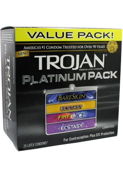 Trojan Platinum Pack Lubricated 26 Pack
