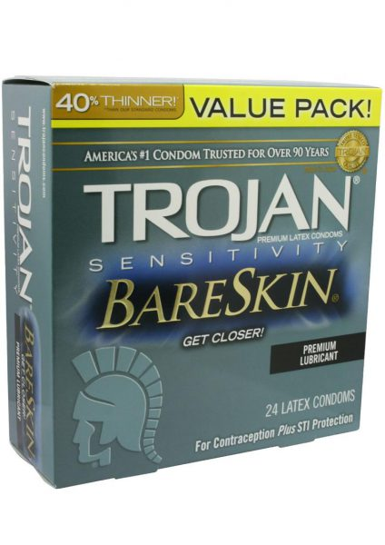 Trojan Sensitivity Bareskin 24 Pack