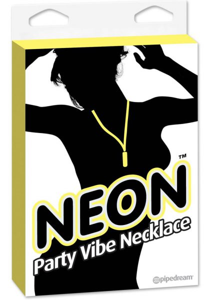Neon Party Vibe Necklace Waterproof Yellow