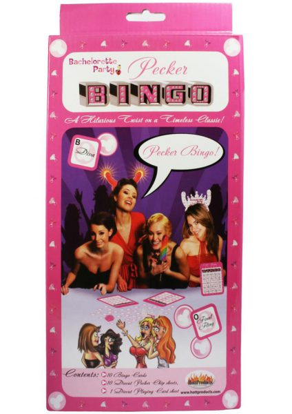 Bachelorette Party Pecker Bingo Game
