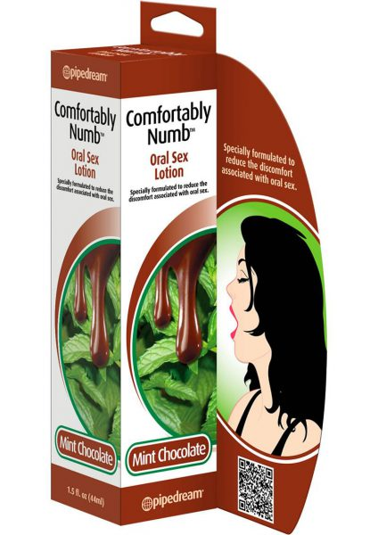 Comfortably Numb Flavored Lotion Chocolate Mint 1.5 Ounce