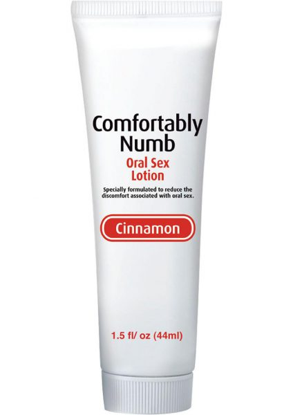Comfortably Numb Flavored Lotion Cinnamon 1.5 Ounce