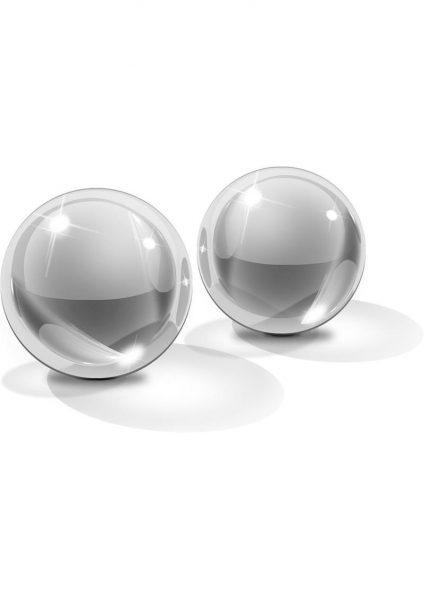 Icicles No 41 Ben-Wa Balls Glass Clear Small 1 Inch Diameter