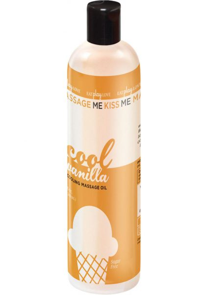 Massage Me Kiss Me Cooling Massage Oil Sugar Free Vanilla 8 Ounce