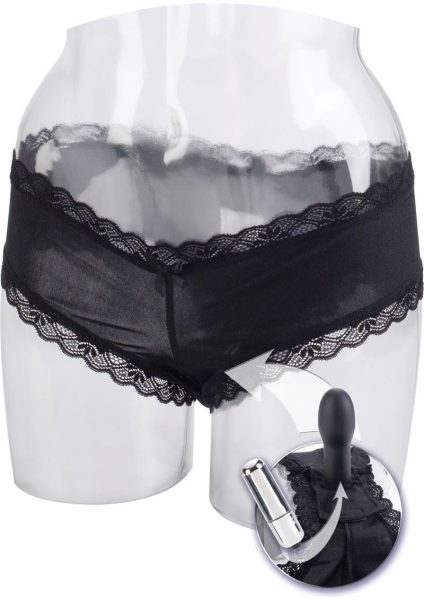 Love Rider Self Pleasurizer Waterproof Vibrating Panty Black