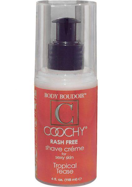 Body Boudoir Coochy Rash Free Shave Creme Tropical Tease 4 Ounce