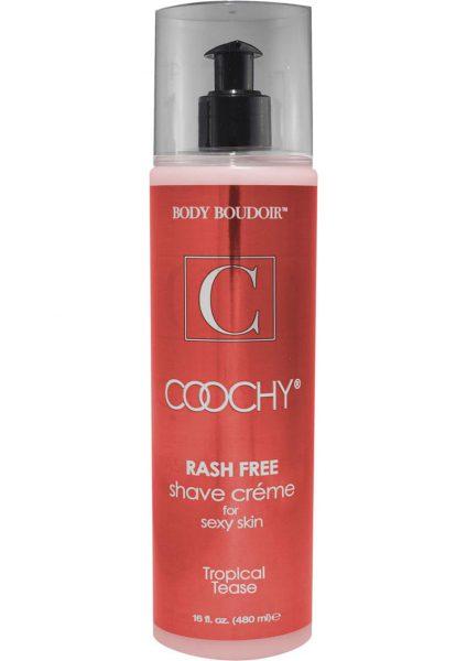 Body Boudoir Coochy Rash Free Shave Creme Tropical Tease 16 Ounce