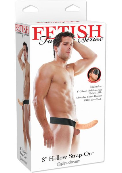 Fetish Fantasy Hollow Adjustable Strap On 8 Inch Flesh