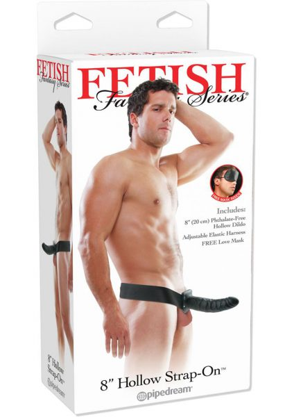 Fetish Fantasy Hollow Adjustable Strap On 8 Inch Black