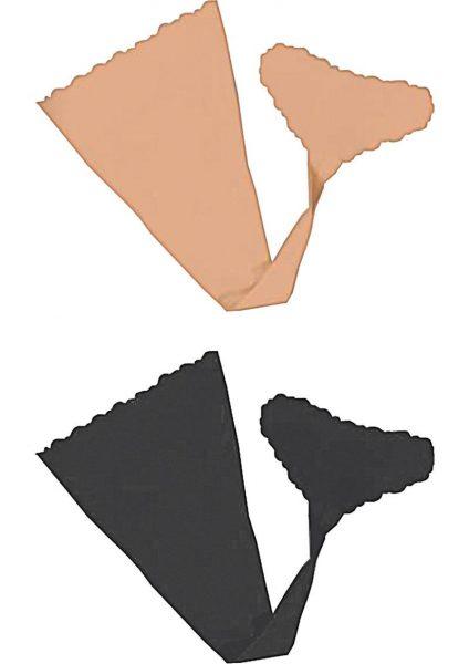 Hush Strapless Adhesive Panties 2 Each Per Pack Nude And Black Small/Medium