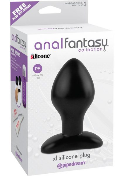 Anal Fantasy Collection XL Silicone Plug Black 4.75 Inch