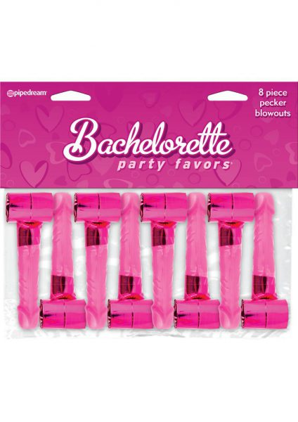 Bachelorette Party Pecker Blowouts 8 Pack