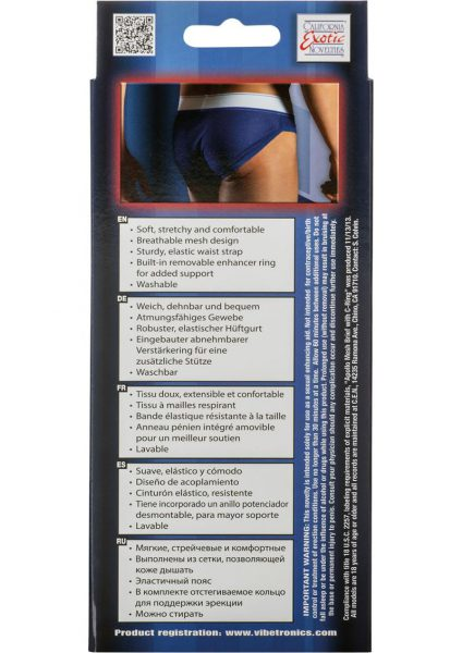 Apollo Mesh Brief With C-Ring Blue Large/Xtra Large