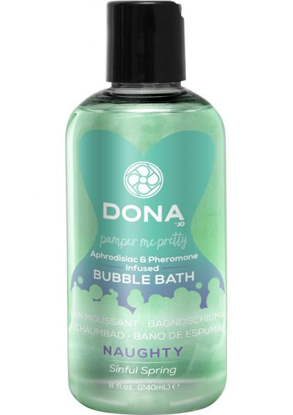 Dona Aphrodisiac and Pheromone Infused Bubble Bath Naughty Sinful Spring 8 Ounce