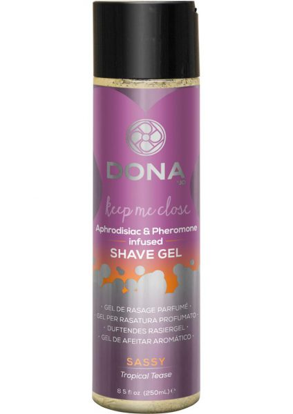 Dona Aphrodisiac and Pheromone Infused Shave Gel Sassy Tropical Tease 8.5 Ounce