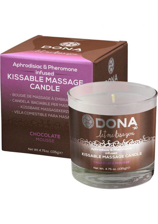 Dona Kissable Massage Candle Chocolate 7.5oz