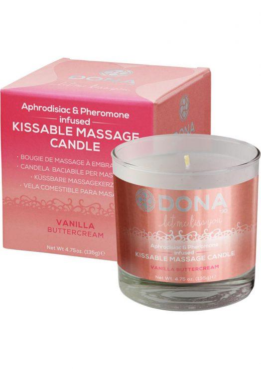 Dona Kissable Massage Candle Vanilla 7.5oz