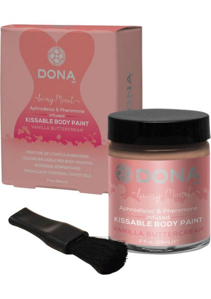 Dona Aphrodisiac and Pheromone Infused Kissable Body Paint Vanilla Buttercream 2 Ounce