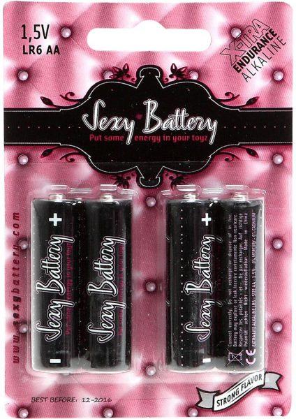 Sexy Battery Xtra Endurance Alkaline LR6 AA/ 1.5V 4 Each Per Pack