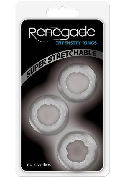 Renegade Intensity Rings Cockrings Clear 3 Each Per Pack
