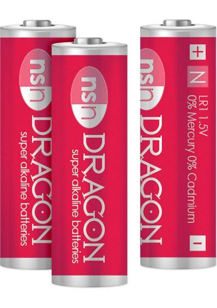 Dragon Super Alkaline Batteries N3/LR1 1.5 Volt 3 Each Per Pack