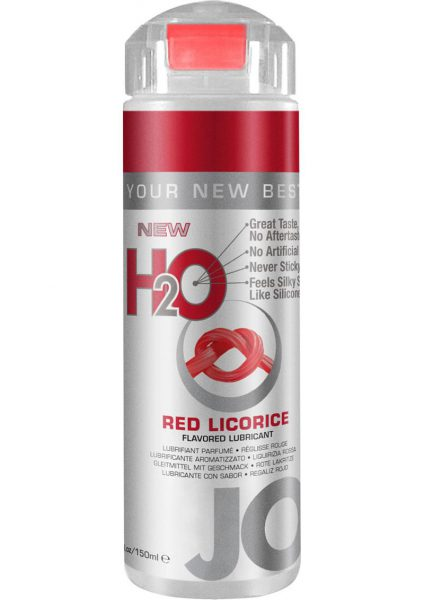 Jo H2O Flavored Lube Water Based Red Licorice 4 Ounce
