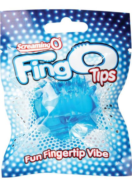 Screaming O Fing O Tips Silicone Finger Massagers Blue