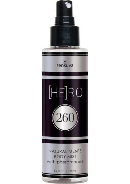 Hero 260 Natural Men's Body Mist With Pheromones 4.2 Ounce Spray