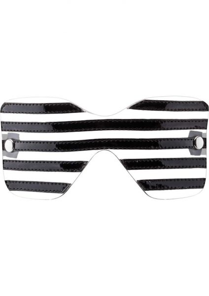 Bad Romance Translucent Eye Mask With Black Stripes