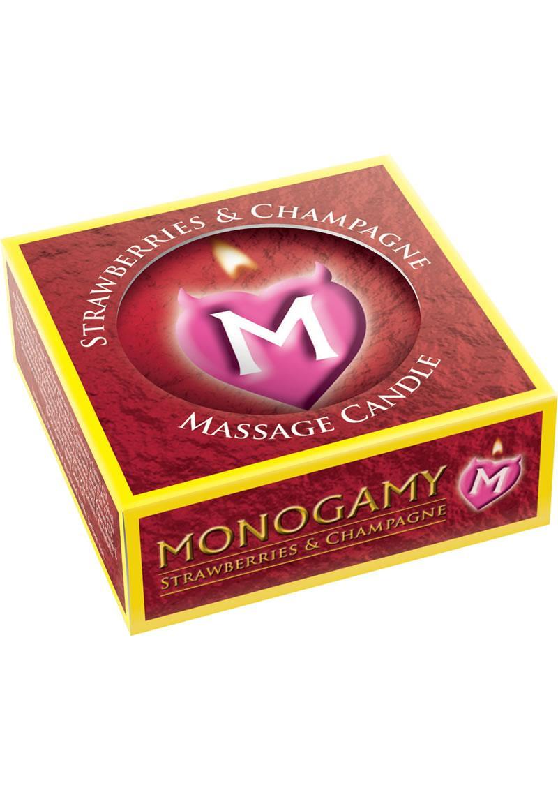 Monogamy Massage Candle Strawberry and Champagne