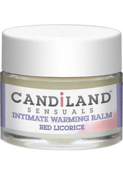 Candiland Sensuals Intimate Warming Balm Red Licorice .25 Ounce