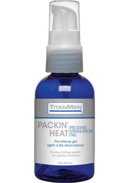 TitanMen Packin' Heat Prostate Stimulation Gel 2 Ounce Pump