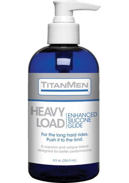 TitanMen Heavy Load Silicone Based Lubricant Glide 8 Ounce Pump