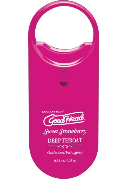 Goodhead Deep Throat To Go Oral Anesthetic Spray Strawberry .33 Ounce